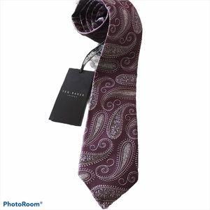 NWT Ted Baker London Purple Paisley Tie